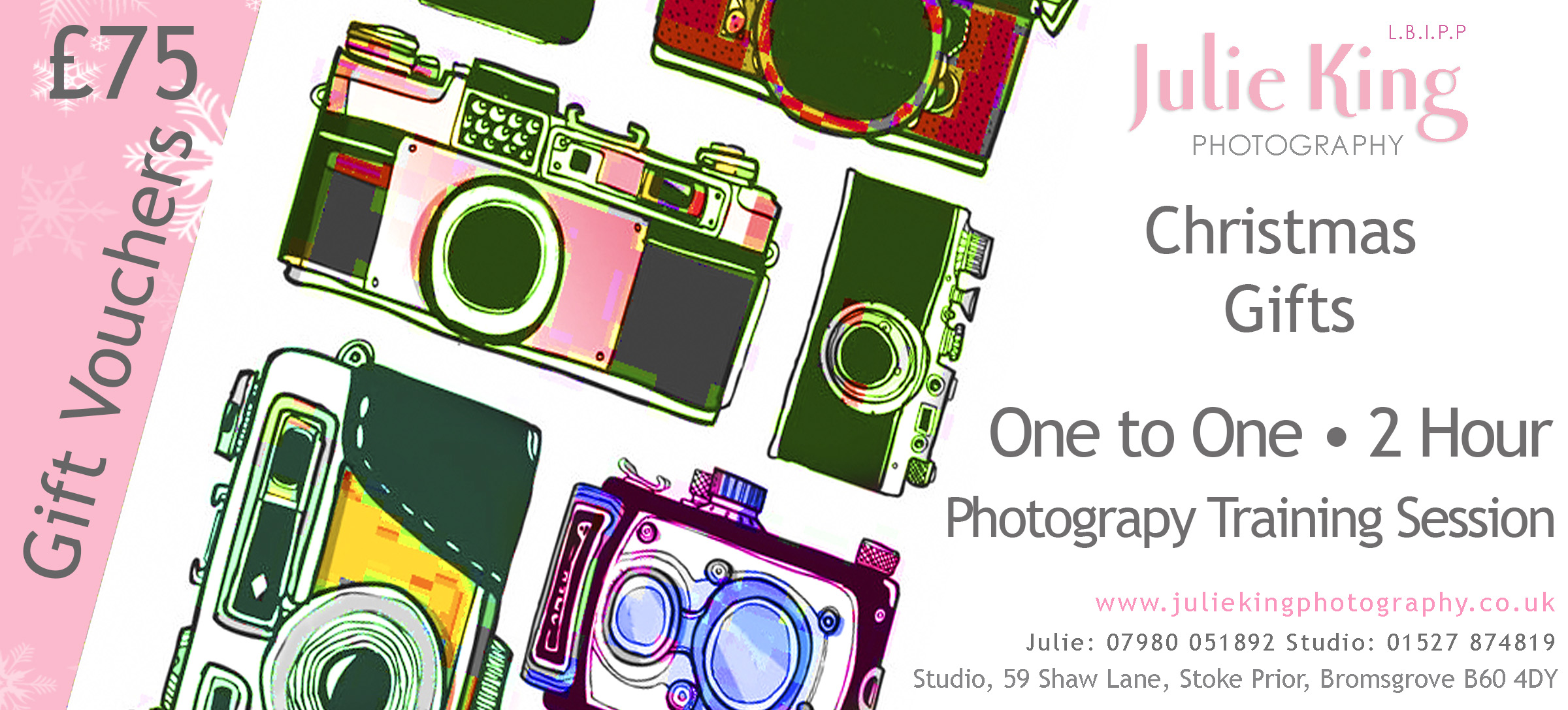 Photography training Gift Vouchers Worcestershire