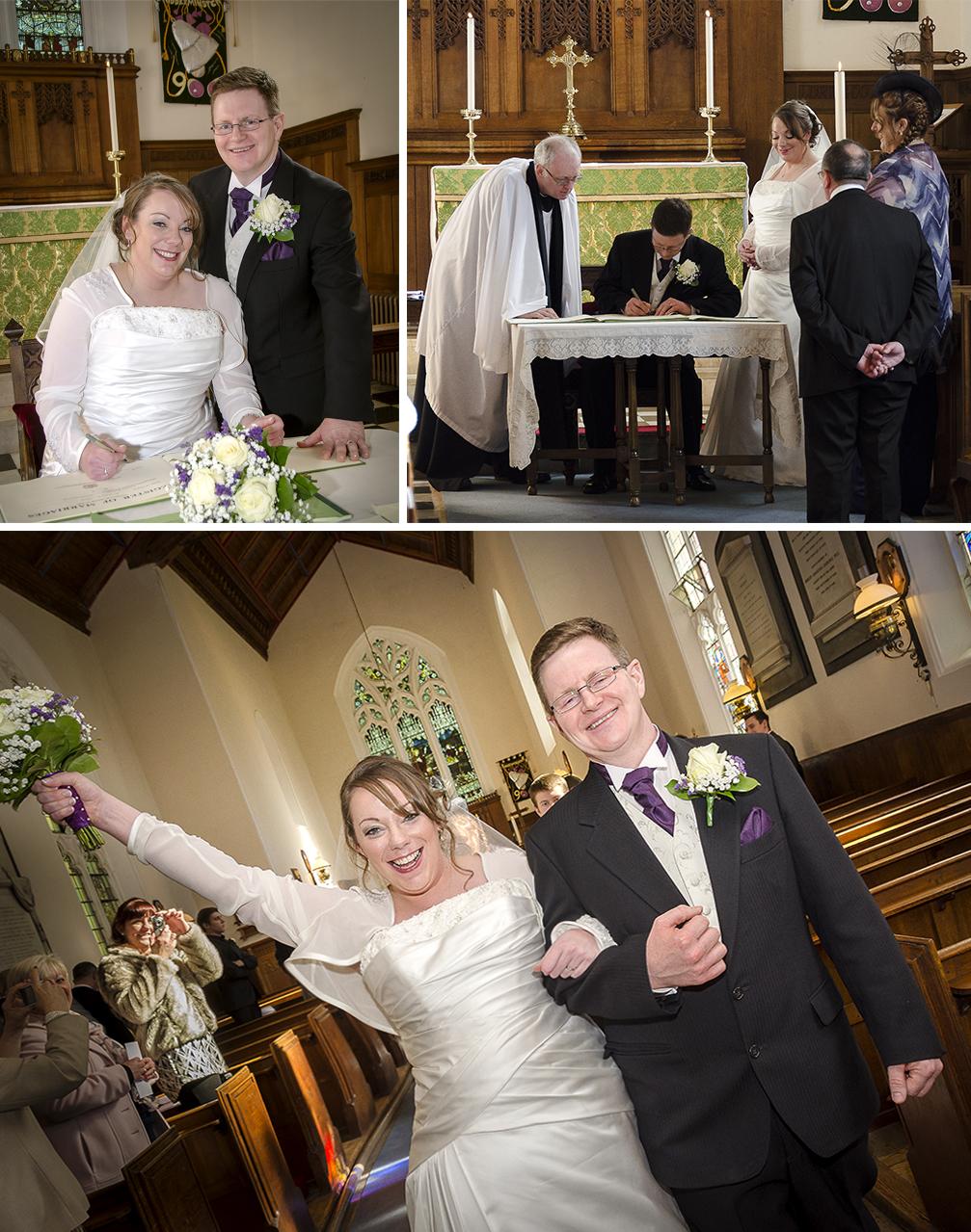 Wedding Photography at St Mary's Church, Stone