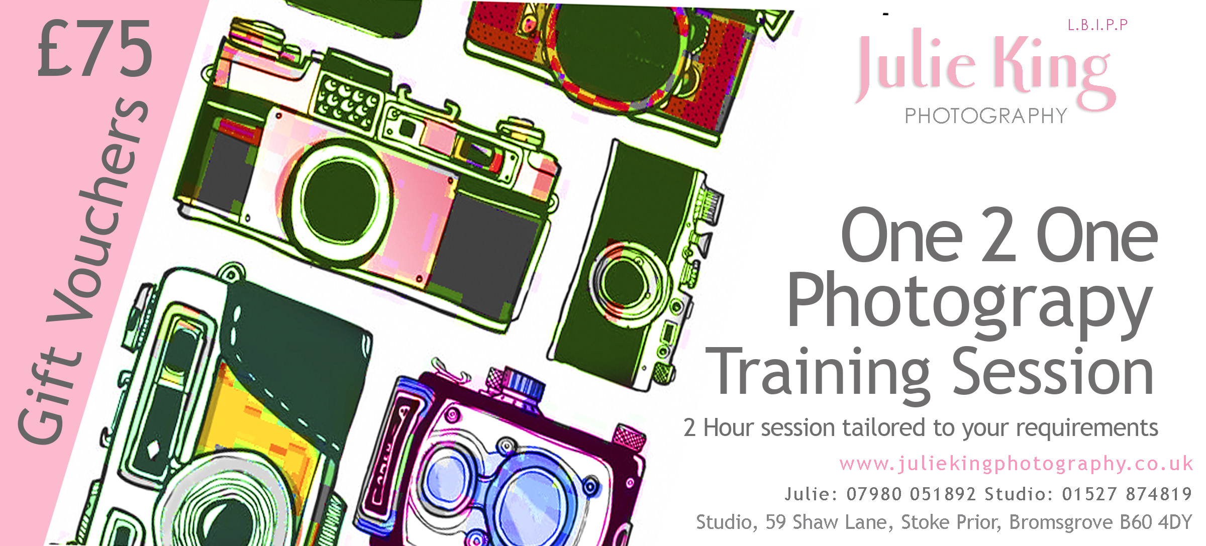 One 2 One photography training Worcestershire