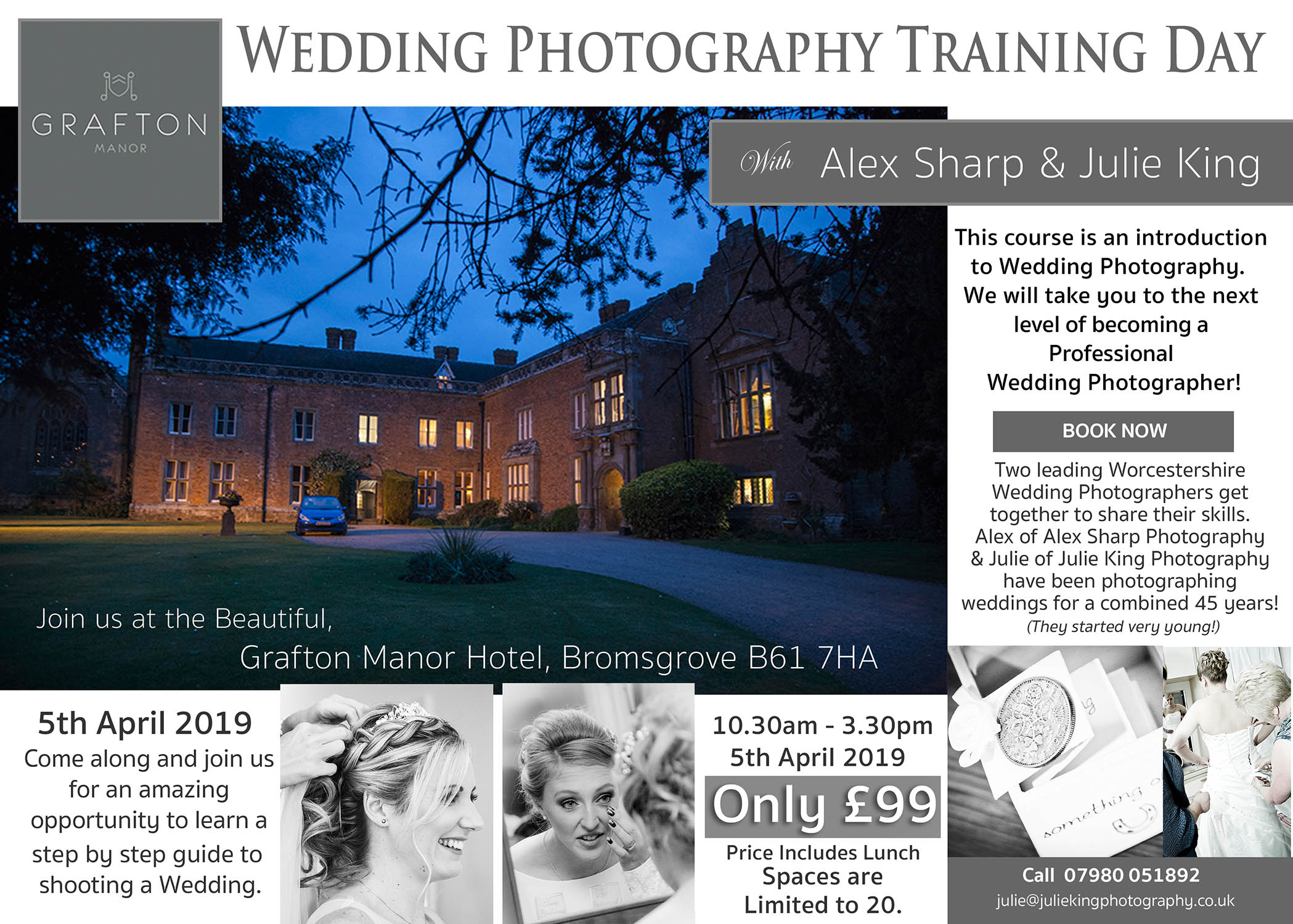 wedding photography training day