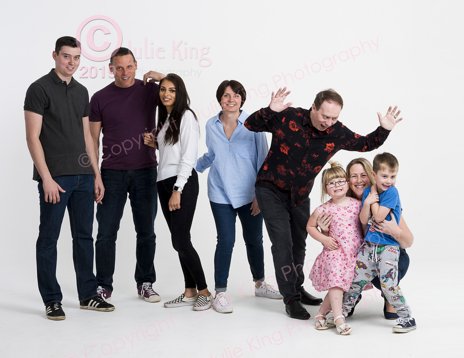Large family group portraits Worcestershire