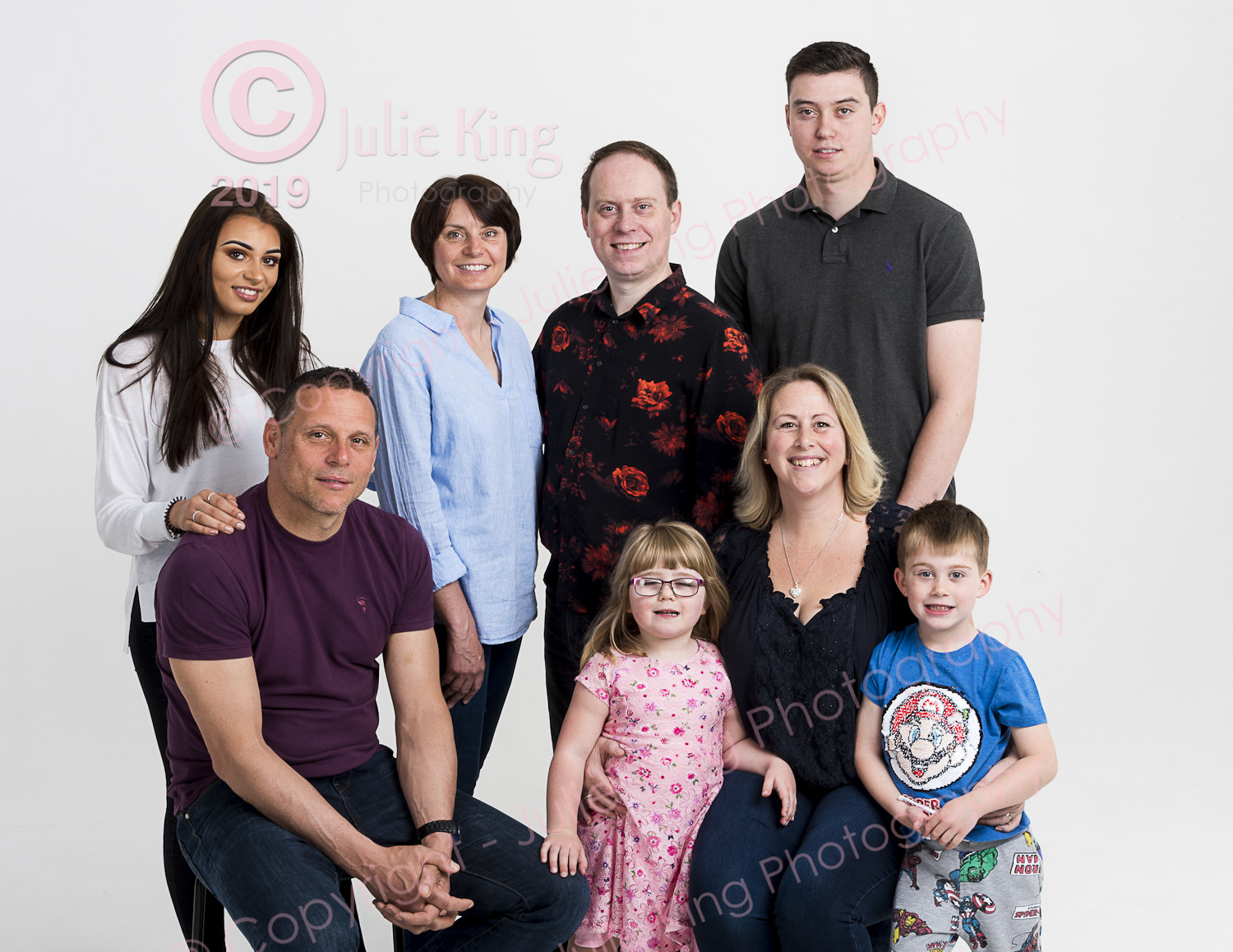 Large family group portraits Droitwich