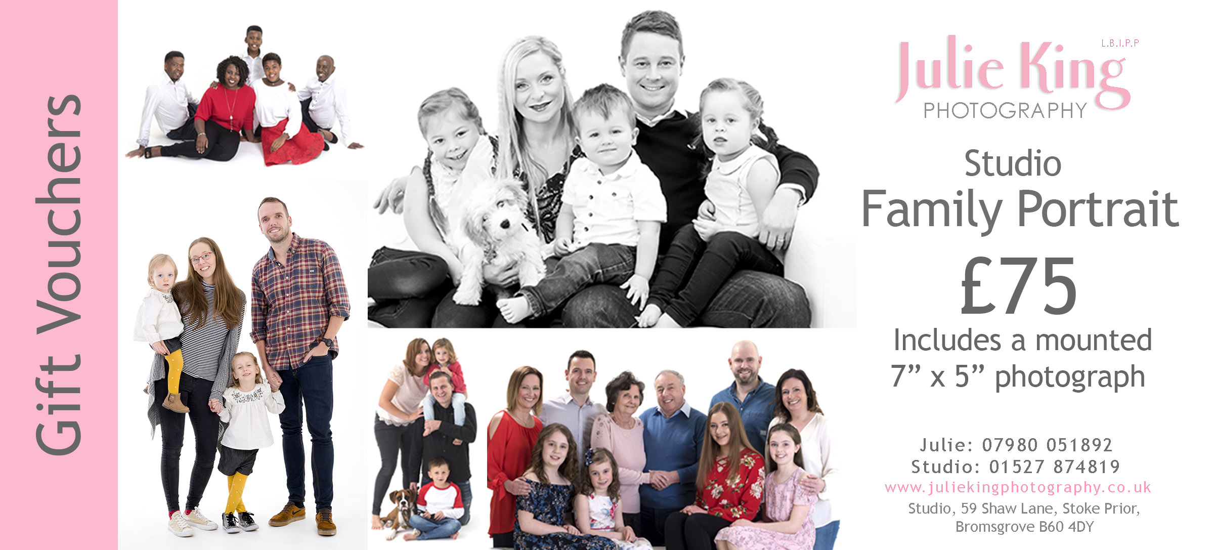 Large Family Studio Portrait sessions, Family Photoshoot Bromsgrove