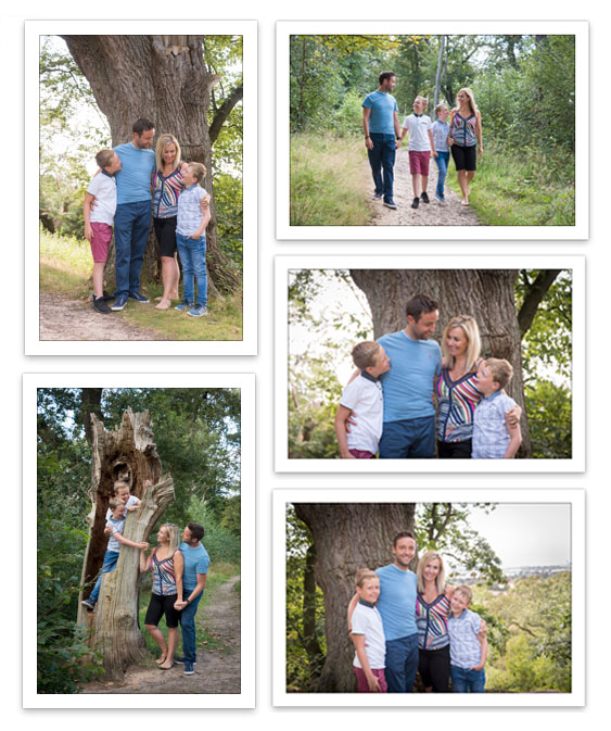 Family Portraits in the Woods at Hanbury Bromsgrove
